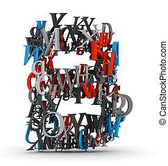 b, 알파벳, 편지, 편지