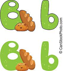 b, 편지, bread