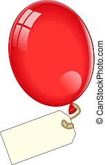 balloon, 꼬리표, 공백