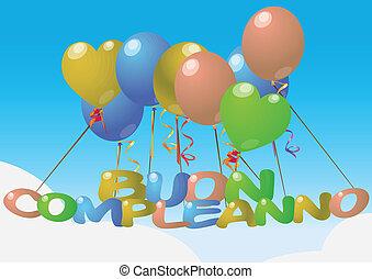 balloon, 생일 축하합니다