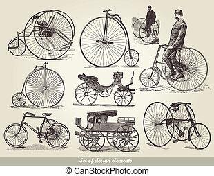 bicycles, 세트, 늙은