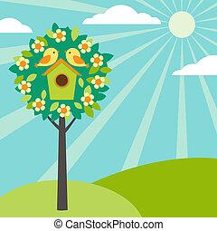 birdhouses, 나무