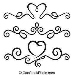 calligraphic, 성분, 꽃의