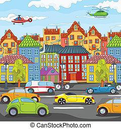 cartoon., 도시
