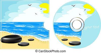 cd, 보이는 상태, 바다, 상표
