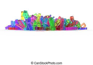 cgi, 선, 알파벳, &, 혼란, 낱말, abc., communication., 배경., 활판 인쇄술, 디자인, 편지, 3차원, 장식적이다, 삽화, 직물