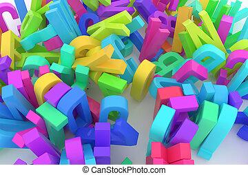 cgi, stack., &, abc, 알파벳, 사업, 배경., 활판 인쇄술, 디자인, 편지, 모형제작, 문자로 쓰는, 직물