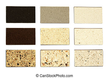 countertops, 부엌, 돌, 견본