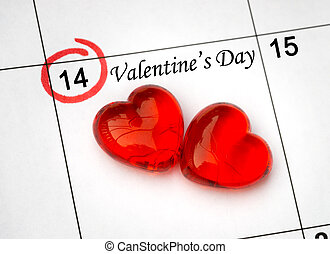 day., 페이지, 달력, 심혼, 14, 성인, 빨강, 연인, 이월