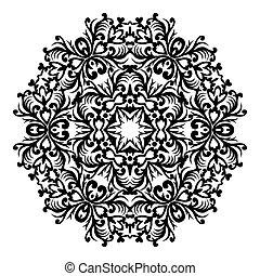 designer., 장식, 연장 모음, 요소, 전통적인, victorian, 벡터, 화려한, 꽃의 8, 바로크, eps, style., decor., 둥근, design.