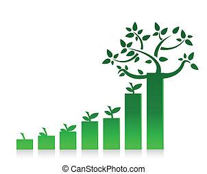 eco, 그래프, 디자인, 도표, 삽화