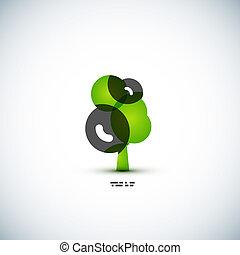 eco, 녹색, 개념, 나무