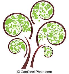 eco, 녹색 나무