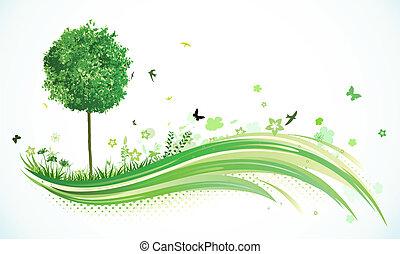 eco, 배경, 녹색