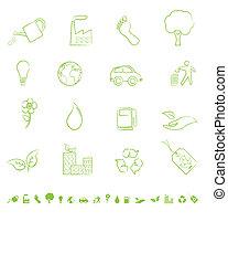 eco, 상징, 녹색