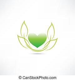 eco, 심장, 녹색