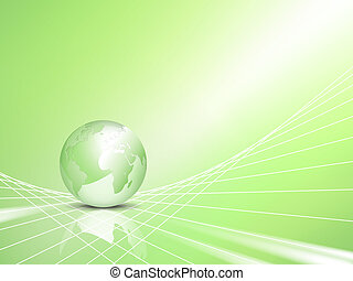 eco, 지구, 개념, 녹색