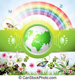 eco, 지구, 녹색