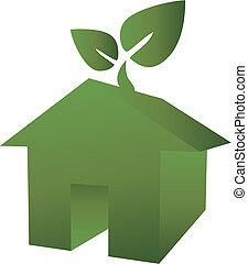 eco, 집, 녹색