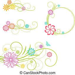 elements., 꽃의 디자인