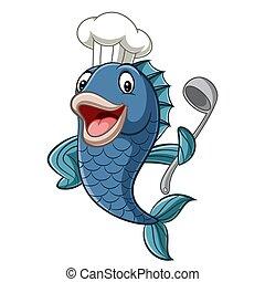fish, 요리사, 만화, 수프 국자, 보유