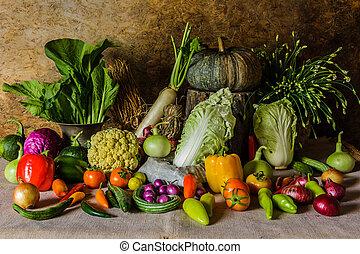 fruits., 인생, 아직도, 약초, 야채