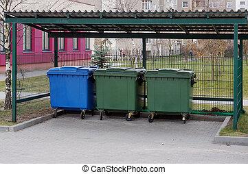 garbag, 장소, 옳은
