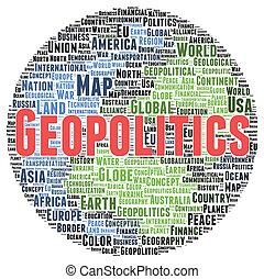 geopolitics, 모양, 낱말, 구름