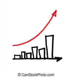 graph., 화살, succesful, 빨강