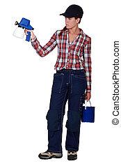 gun., 살포 화가, 여성