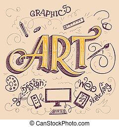 hand-lettering, 예술, 카드
