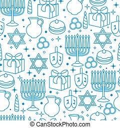 hanukkah, 패턴, seamless, 축하, 물건, 휴일, 행복하다
