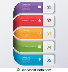 infographics, 현대, 옵션, 사업, banner.