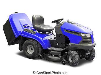 lawnmower, 파랑