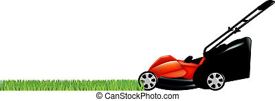 lawnmower, 풀, 녹색
