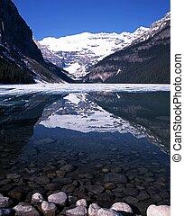 louise, 한 나라를 상징하는, park., 호수, banff