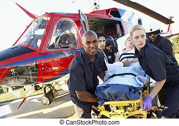 medevac, 구조 대원, 환자, 무부하