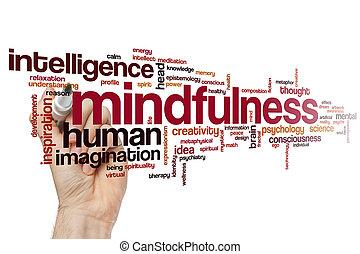 mindfulness, 낱말, 구름