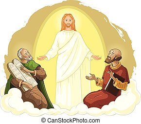 moses, transfiguration, 그리스도, elijah, 예수