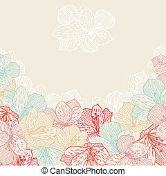 orchid., 꽃, 떼어내다, seamless, 우아, 배경