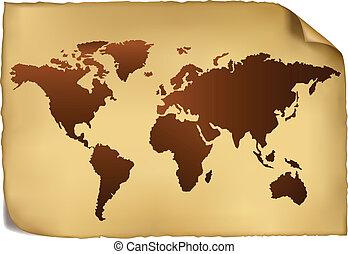 pattern., 지도, 세계, 포도 수확