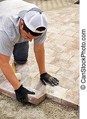 paver, 돌, 정원사 노릇을 함