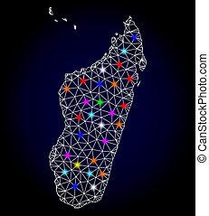 raster, 마다가스카르, 철사, 지도, 섬, 구조, 지점, 백열하는 것, 그물코, 년, 새로운