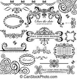set., 결혼식, design.