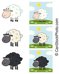 sheep, 성격, -, 수집, 3, 만화, 마스코트