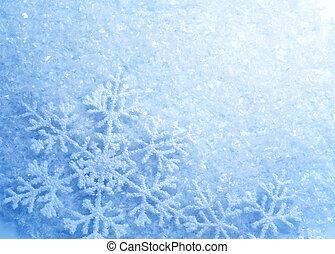 snowflakes., 배경., 겨울, 눈, 크리스마스