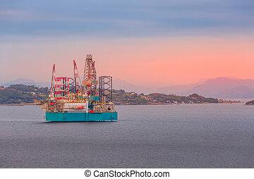 stavanger, 플랫폼, 기름, 노르웨이