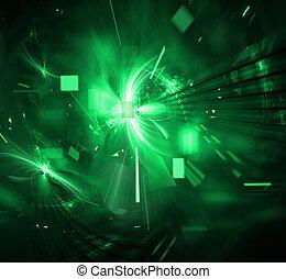 techno, 폭발, 디지털