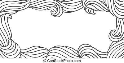 texture., 물, 카드, 또는, 배경, 디자인, 바다, waves., 강