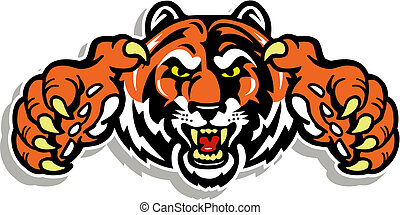 tiger, 은 할퀸다, 얼굴